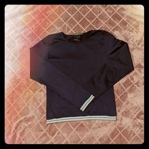 Nike Dri Fit Seamless Navy Long Sleeve Running Tee